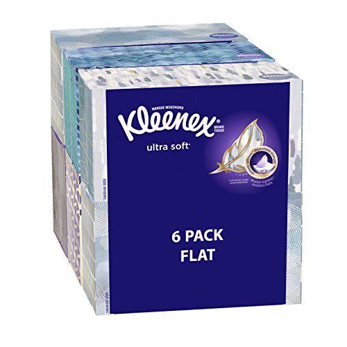 0796433940432 - KLEENEX ULTRA SOFT FACIAL TISSUES, MEDIUM COUNT FLAT, 170 CT, 6 PACK. DESIGNS MAY VARY