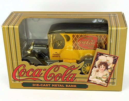 0797162425641 - COCA-COLA VINTAGE RED BOTTLE TRUCK COIN BANK BY COCA-COLA