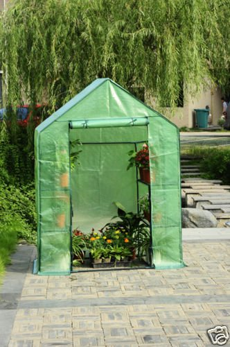 0797734785234 - PETRAS HIGH QUALITY GREENHOUSE W/SHELVES, WALK IN GREEN HOUSE, BRAND NEW