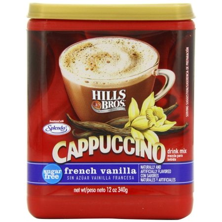 0798527150154 - HILLS BROS CAPPUCCINO SUGAR-FREE FRENCH VANILLA, 12 OUNCE