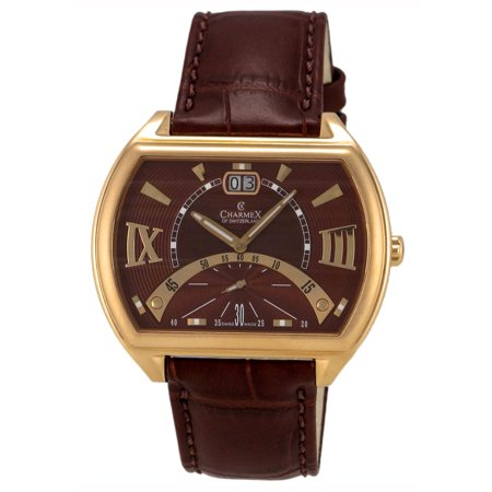 0799456362885 - CHARMEX OF SWITZERLAND MONTE CARLO ROSE GOLD PLATED STEEL MENS WATCH METALLIC BROWN DIAL 2332