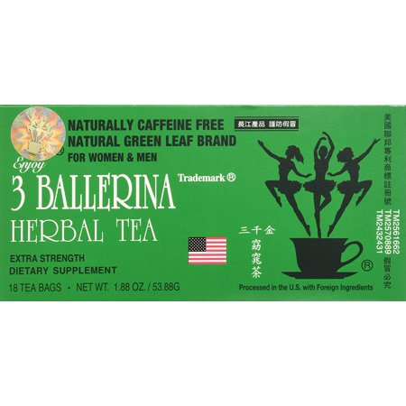 0799493908565 - 3 BALLERINA DIET TEA EXTRA STRENGTH FOR MEN AND WOMEN (12 BOXES X 18 BAGS)
