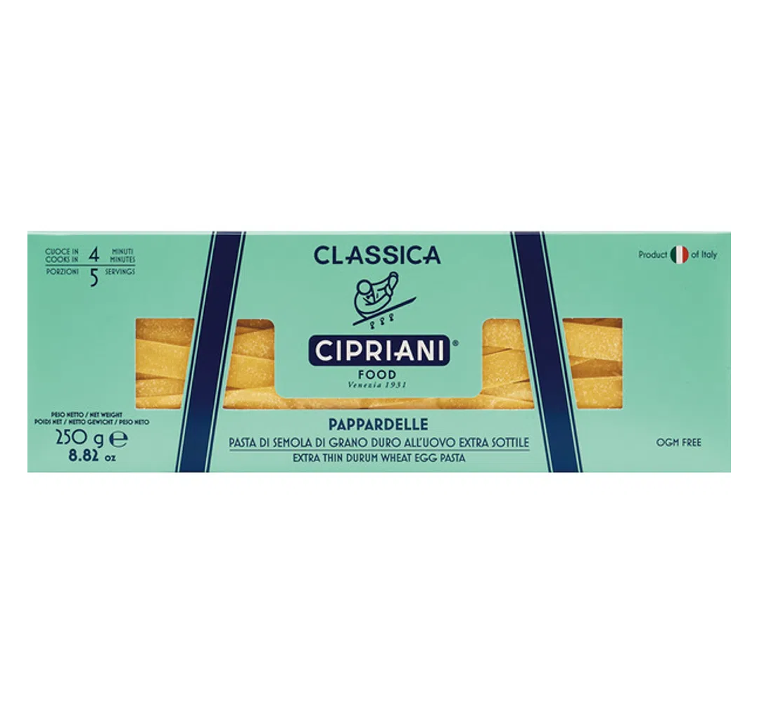8005016141282 - CIPRIANI | CIPRIANI FOOD PAPPARDELLE EXTRA THIN EGG PASTA,