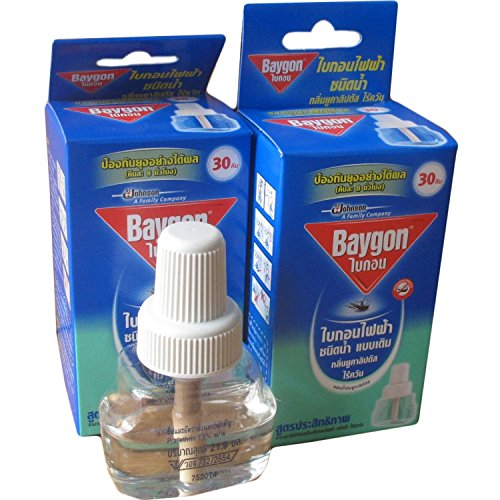 0801862518579 - 2 X REFILLABLE PROTECTOR RAID MOSQUITO BAYGON ELECTRIC LIQUID TYPE