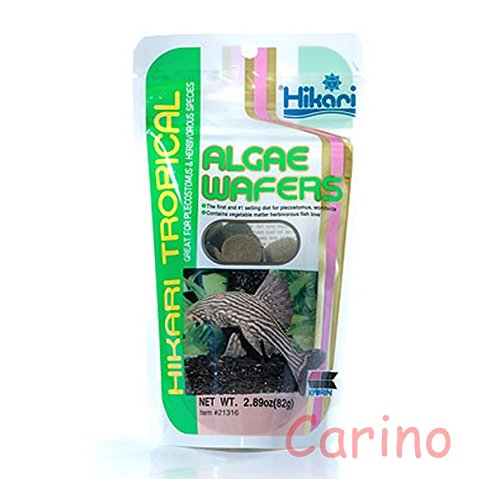 0802453974385 - HIKARI TROPICAL ALGAE WAFERS (SINKING TYPE) FOR HERBIVOROUS FISH. IT COMES IN THE FORM OF DISC (DISC) 82 G.