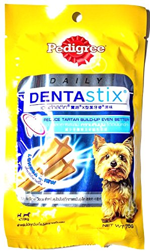 0803106203869 - PEDIGREE DENTASTIX X-SHAPED, REDUCE TARTAR BUILD-UP FORMULA FOR TOY TO SMALL DOG 75 G.