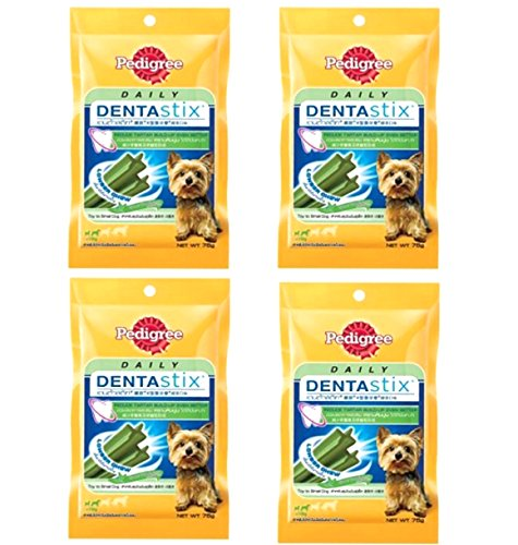 0803106229418 - PEDIGREE DENTASTIX GREEN TEA FLAVOR,X-SHAPED REDUCE TARTAR BUILD-UP FORMULA FOR TOY TO SMALL DOG 2.65 OZ/ 75G. (PACK OF 4)
