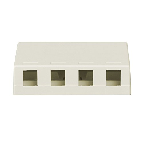 0804428008415 - ON-Q/LEGRAND WP3504WH FOUR PORT SURFACE MOUNT BOX, WHITE