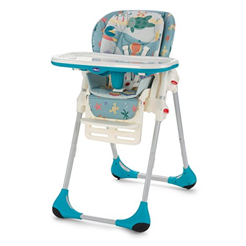 8047406120590 - BEAUTIFUL POLLY 2 IN 1 BABY HIGHCHAIR - (SEADREAMS)