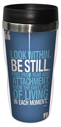 0805866782165 - TREE-FREE GREETINGS 78216 INSPIRATIONAL QUOTE BE STILL SIP 'N GO STAINLESS LINED TRAVEL MUG, 16-OUNCE