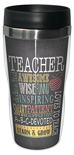 0805866782202 - TREE-FREE GREETINGS 78220 JO MOULTON AWESOME TEACHER SIP 'N GO STAINLESS LINED TRAVEL MUG, 16-OUNCE