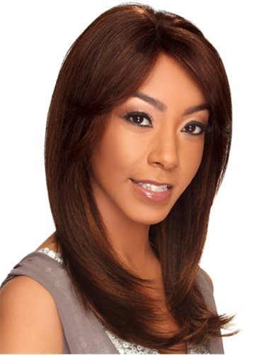 0806993380996 - HOLLYWOOD SIS 100% REMY HUMAN HAIR LACE FRONT WIG - JULIE COLOR - #1 - JET BLACK