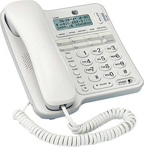 0809099141683 - CL2909 AT&T STANDARD PHONE - WHITE - CORDED - 1 X PHONE LINE - SPEAKERPHONE - CALLER ID