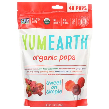 0810165014435 - YUMEARTH ORGANIC LOLLIPOPS, 8.5 OUNCE BAG