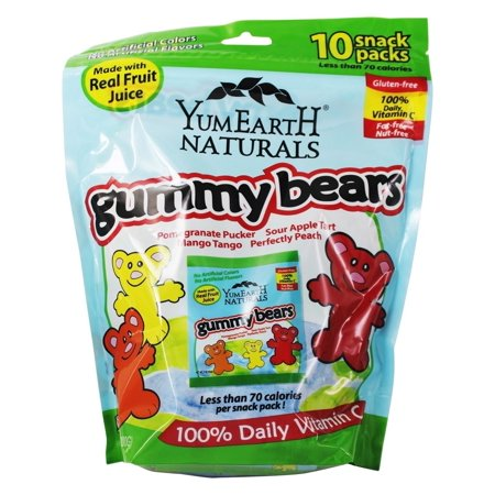 0810165015777 - YUMEARTH NATURAL GUMMY BEARS, 10 COUNT, NET WT. 7OZ