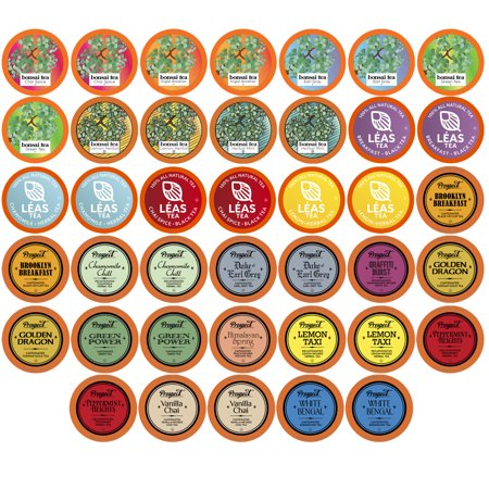 0810683022561 - TWO RIVERS ASSORTED TEA SAMPLER PACK FOR KEURIG K-CUP BREWERS, 40 COUNT