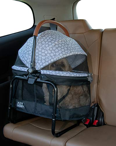 0810684000759 - PET GEAR VIEW 360 PET CARRIER & CAR SEAT WITH BOOSTER SEAT FRAME FOR SMALL DOGS & CATS WITH MESH VENTILATION FOR EASY VIEWING, SILVER PEARL