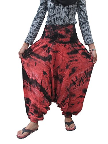0811133036992 - (UNIQUE TIE DYE BUY THIS ONE GET THIS ONE RAYON COTTON) TROUSERS HAREM GENIE YOGA PANTS ALADDIN HIPPIE BAGGY JUMPSUIT BELLY DANCE BOHO
