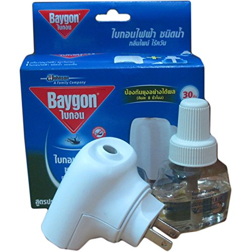 "0811315797031 - ""THAICHOICE"" BAYGON LIQUID ELECTRIC MOSQUITO REPELLER 30 DAYS 0.77 OZ WITH FREE 1 REFILL"