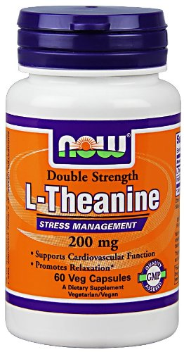 0811896493421 - NOW FOODS, L-THEANINE 200 MG, VEG-CAPSULES, 60-COUNT