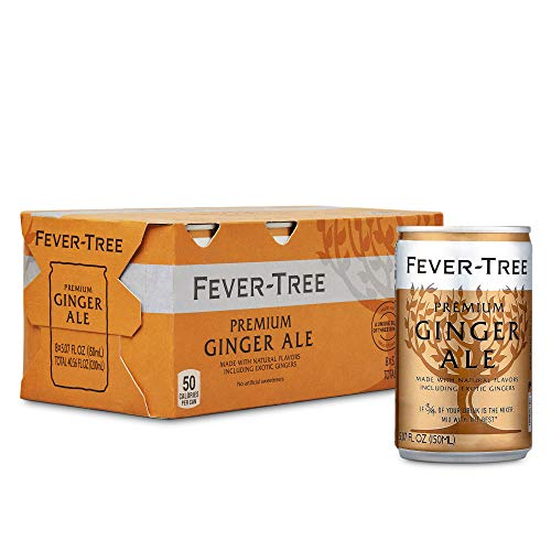 0812136030222 - FEVER-TREE PREMIUM GINGER ALE CANS, NO ARTIFICIAL SWEETENERS, FLAVORINGS & PRESERVATIVES, 5.07 FL OZ (PACK OF 24)