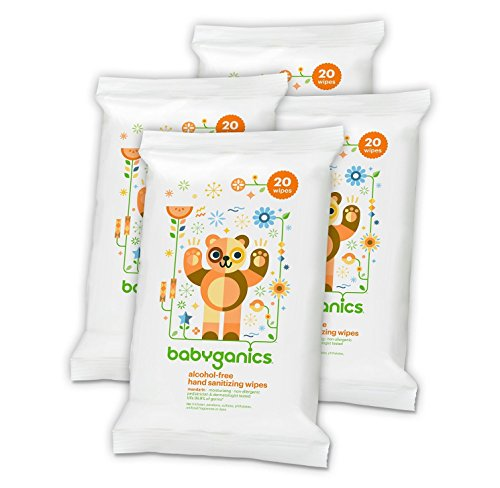 0813277015048 - BABYGANICS ALCOHOL-FREE HAND SANITIZING WIPES, MANDARIN, ON-THE-GO, 20 COUNT RESEAL PACK (PACK OF 4)