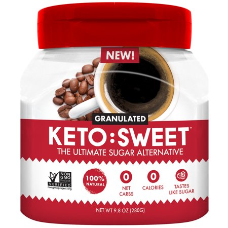 0813314015536 - KETO:SWEET ULTIMATE SUGAR ALTERNATIVE, 100% NATURAL ERYTHRITOL - GRANULATED IN POURABLE, RESEALABLE JAR (9.8 OZ; PACK OF 1), 9.8 OZ