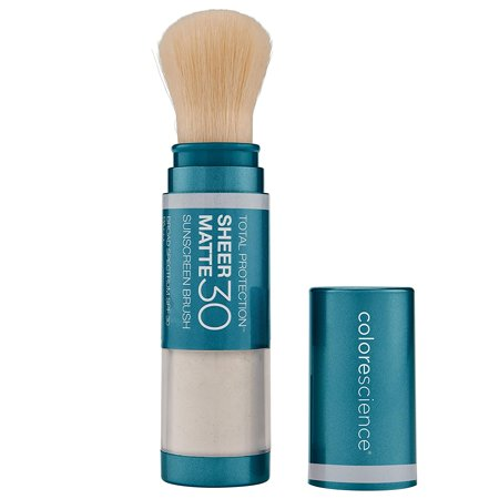 0813419027151 - COLORESCIENCE TOTAL PROTECTION SHEER MATTE SPF 30 SUNSCREEN BRUSH - MINERAL POWDER SUNSCREEN FOR OILY AND ACNE-PRONE SKIN, 4.3 G.