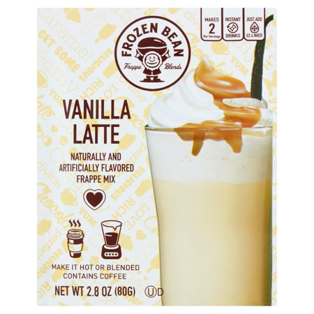 0814879022984 - FROZEN BEAN VANILLA LATTE FRAPPE MIX, 2.8 OZ