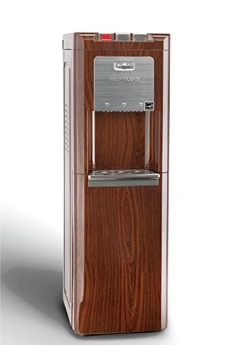 0817925002961 - GLACIAL RED MAHOGANY BOTTOM LOADING COMMERCIAL WATER COOLER, SELF CLEANING