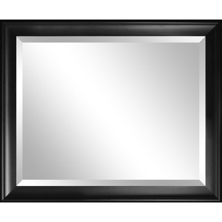0818878013394 - ALPINE SUMMIT WALL MIRROR WITH BLACK FRAME 28X34