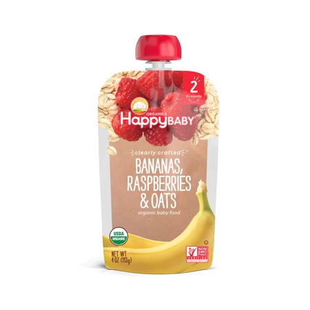 0819573013269 - BANANAS, RASPBERRIES & OATS ORGANIC BABY FOOD 4 OZ POUCH