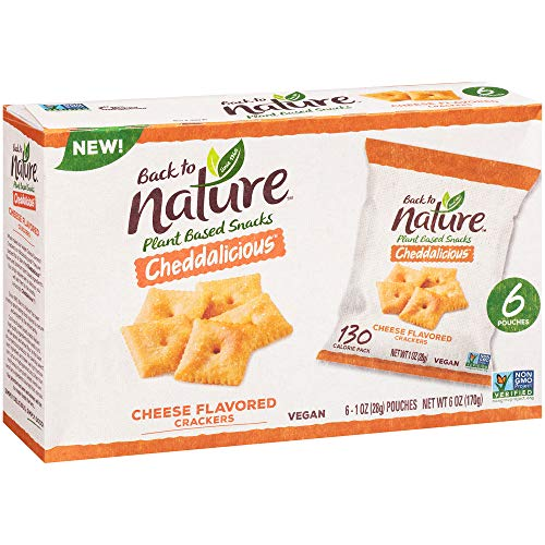 0819898010325 - BACK TO NATURE CRISPY CHEDDAR SINGLE SERVE CRACKERS, 1 OUNCE EACH, 8 COUNT