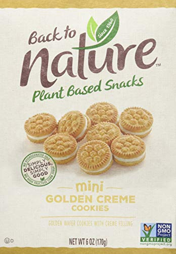 0819898014033 - BACK TO NATURE COOKIES, MINI GOLDEN CRÈME, 6 OUNCE
