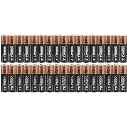 0820103606240 - DURACELL AA BATTERIES COPPERTOP MN1500 - 34 PACK