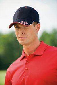 0820599193590 - ADAMS NATIONAL TWILL CAP (RED_WHITE_NAVY) (ALL)