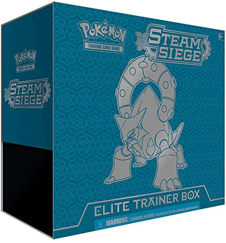 0820650801433 - POKEMON TCG ELITE TRAINER BOX: XY STEAM SIEGE - BOOSTERS SLEEVES DICE COIN
