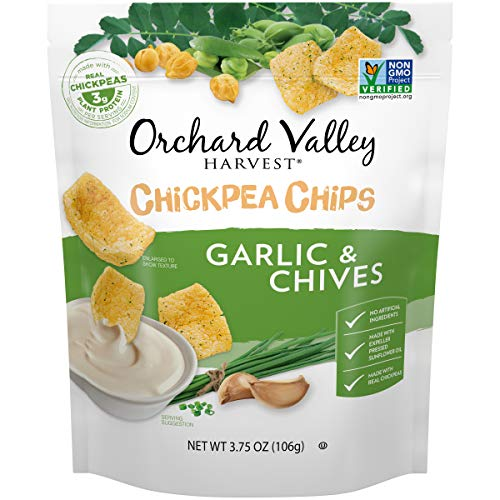 0824295140186 - ORCHARD VALLEY HARVEST CHICKPEA CHIPS GARLIC & CHIVE, 3.75 OZ, 8COUNT