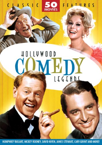 0826831070971 - HOLLYWOOD COMEDY LEGENDS - 50 MOVIE PACK: THE STEAGLE - THE OVER-THE-HILL GANG - RESCUE FROM GILLIGAN'S ISLAND - LOVE LAUGHS AT ANDY HARDY - HIS GIRL FRIDAY - ALICE'S ADVENTURES IN WONDERLAND - MY MAN GODFREY - BEAT THE DEVIL + 42 MORE!