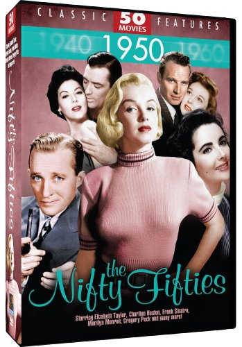 0826831071251 - NIFTY FIFTIES - 50 MOVIE PACK: CYRANO DE BERGERAC - THE LADY SAYS NO - THE MAN WITH THE GOLDEN ARM - THE SNOWS OF KILIMANJARO - THE LAST TIME I SAW PARIS - THE JACKIE ROBINSON STORY - THE CONQUEST OF EVEREST - BENEATH THE 12-MILE REEF + 42 MORE!