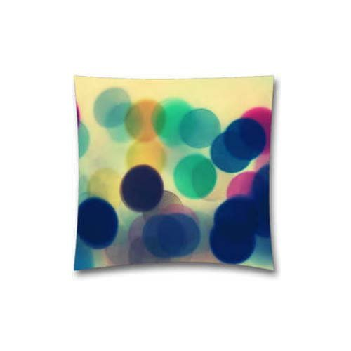 8269652253994 - GENERIC BLURRED LINES B BOKEH PATTERN COTTON POLYESTER PILLOW COVER, 18 X 18-INCH