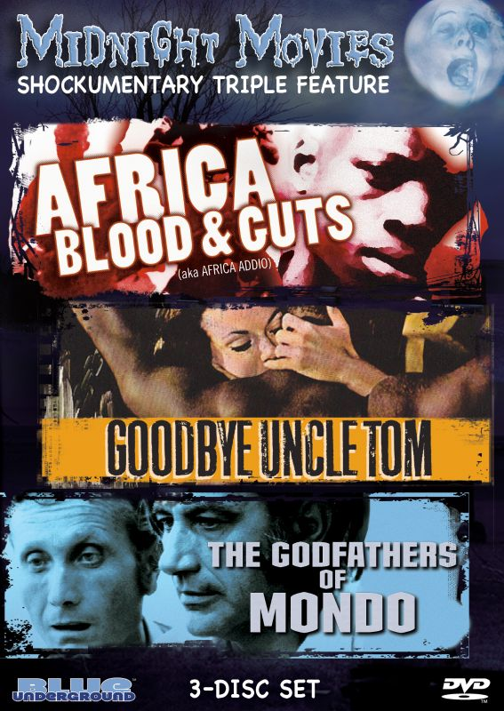 0827058402590 - MIDNIGHT MOVIES VOL 12: SHOCKUMENTARY TRIPLE FEATURE (AFRICA BLOOD & GUTS/GOODBYE UNCLE TOM/GODFATHERS OF MONDO)
