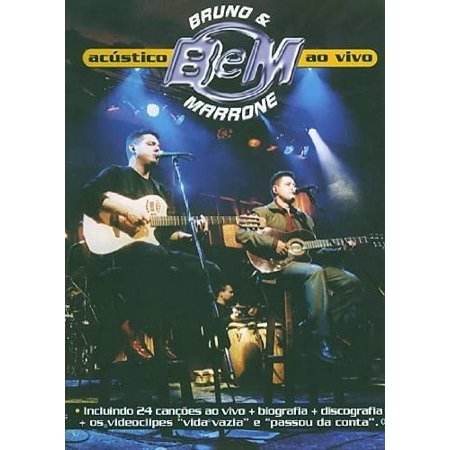 0828765252799 - DVD BRUNO & MARRONE - ACUSTICO - AO VIVO