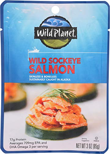0829696001357 - WILD PLANET WILD SOCKEYE SALMON, 3 OUNCE