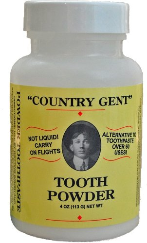 "0833345001100 - ""COUNTRY GENT""® TOOTH POWDER WITH FLUORIDE AN ALTERNATIVE TO TOOTHPASTE"