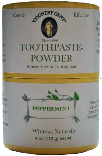 """0833345001704 - """"COUNTRY GENT"""" TOOTH POWDER: NON-FLUORIDE, 4 OZ, BIODEGRADABLE PACKAGING MADE IN USA"""