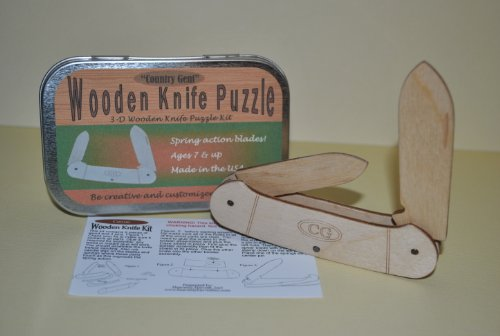 0833345006549 - WOODEN 3-D KNIFE PUZZLE TOY