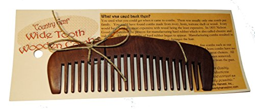 "0833345007041 - ""COUNTRY GENT"" WIDE TOOTH WOOD COMB"