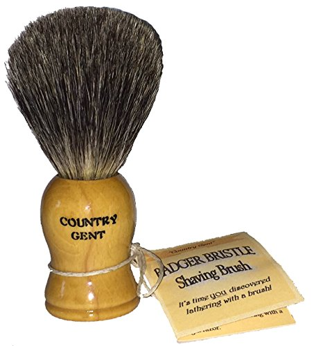 0833345009144 - 100% PURE BADGER SHAVING BRUSH WITH WOODEN HANDLE