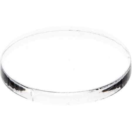 0840003115321 - PLYMOR CLEAR ACRYLIC ROUND STANDARD-EDGE DISPLAY BASE